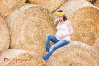 Babybauchfotos Zella-Mehlis Meiningen Strohballen
