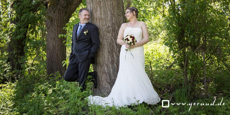 Hochzeitsfotos Rhön Brautkleid